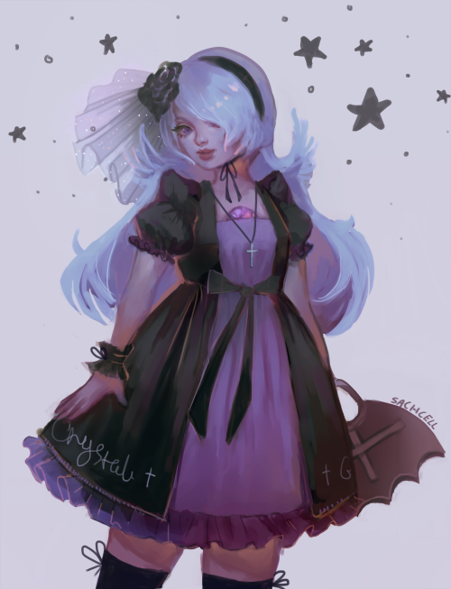 sachcell:  Amethyst x Moi Meme MoitieI thought her their colour schemes were similar, but honestly that dress wouldn't last 10 seconds on her \o/
