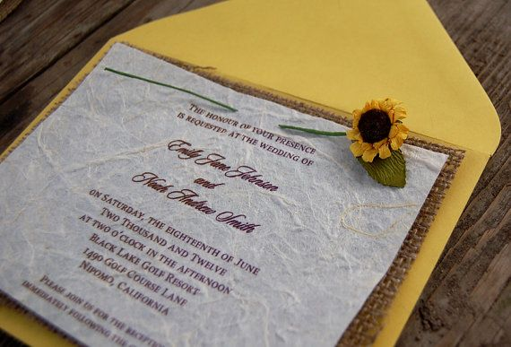 Do it yourself d i y rustic burlap sunflower wedding invitation do it yourself d i y rustic burlap sunflower wedding invitation solutioingenieria Gallery