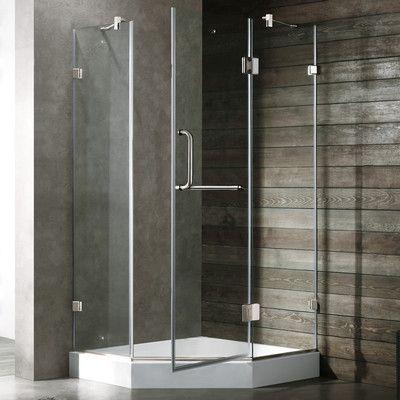 Vigo Piedmont 38 X 38 In Frameless Neo Angle Shower Enclosure