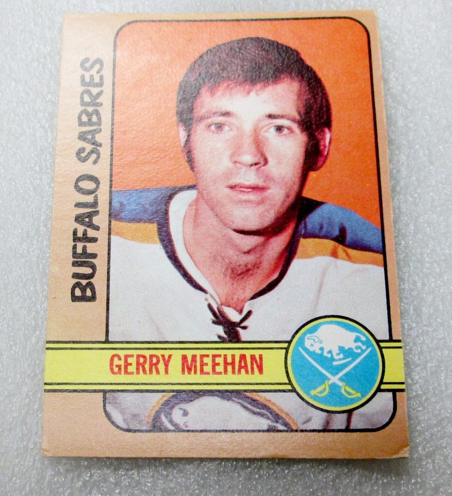 O PEE CHEE 197273 GERRY MEEHAN CARD! EX.NM SABRES SET