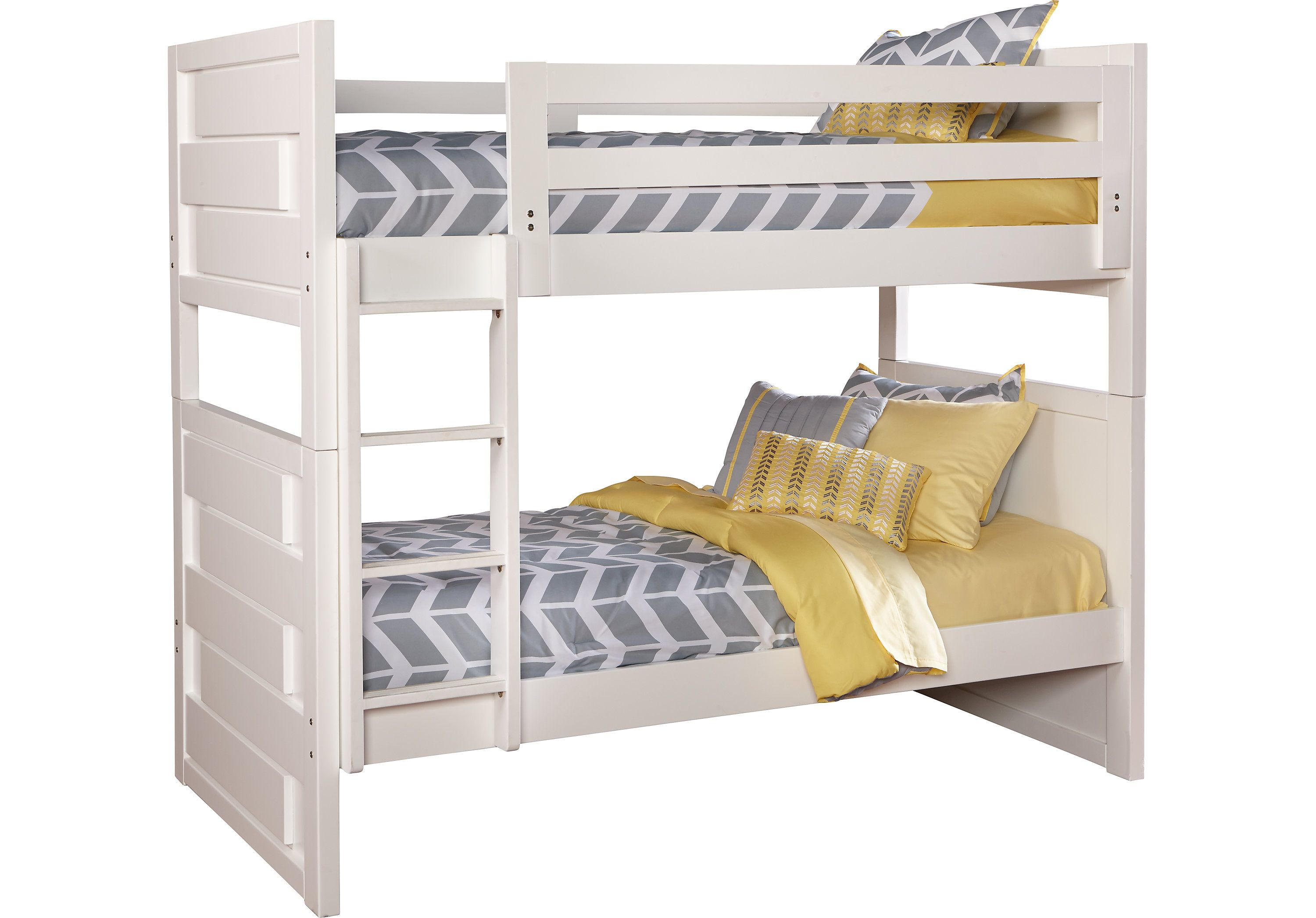 picture of Quake White Twin/Twin Bunk Bed from Beds