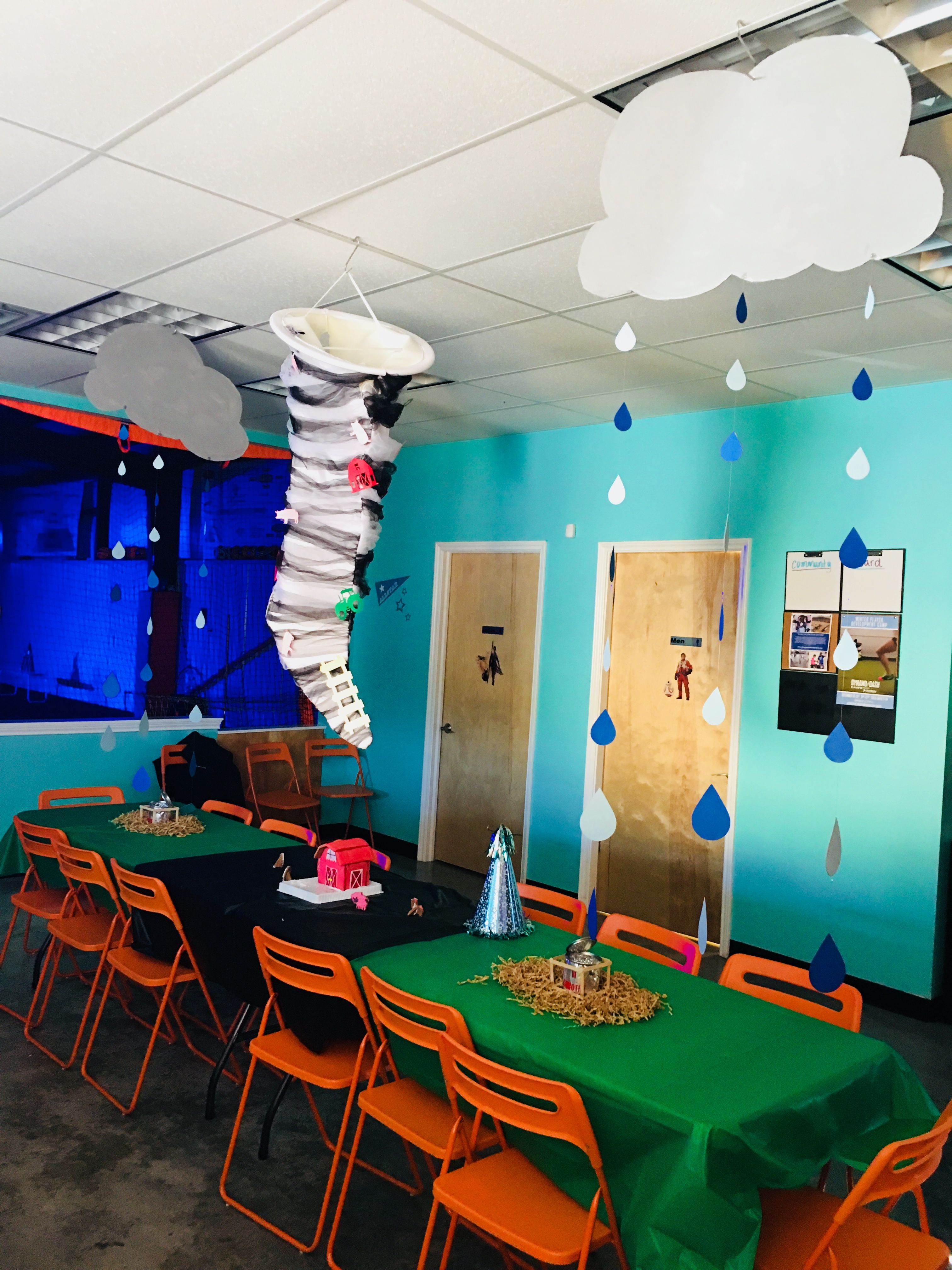 Tornado Party Decorations Ollie S 6th Birthday Party