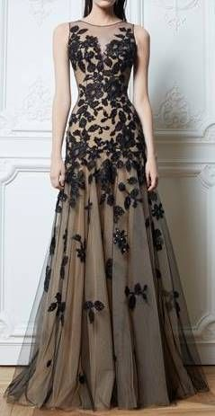 Zuhair Murad | a-line evening gown with embroidery | high fashion