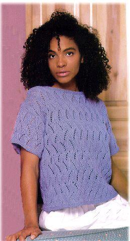 Free Knit Pattern Italian Tee Shirt From Crystal Palace Yarns Free