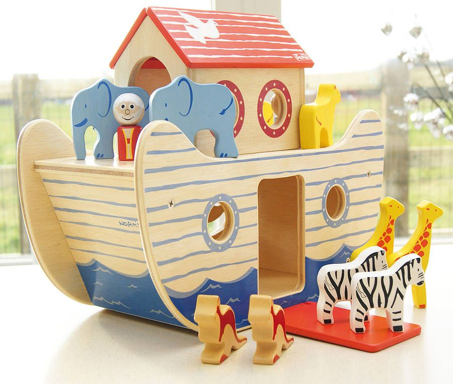 Wooden Noah S Ark Toy For The Kiddos Wooden Toys