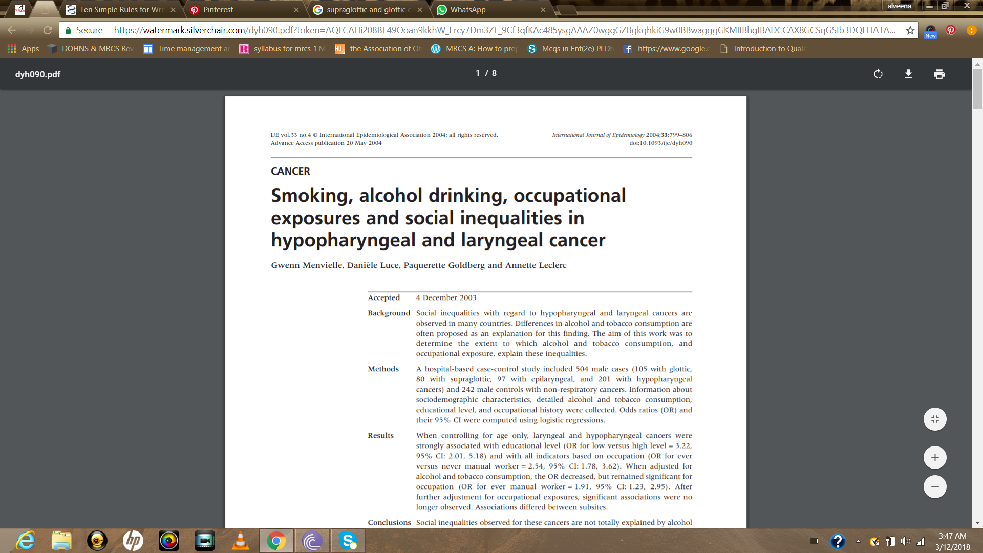 Pin By Alveena Farid On Research Paper Research Paper Cancer Alcohol