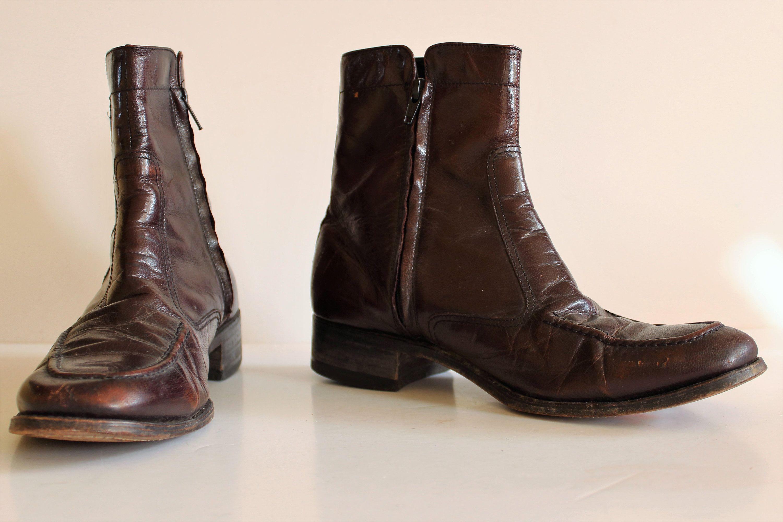 485e7eab6c157 Ankle Boots | Florsheim, Vintage 1980s, size 8D men, Leather Boots ...