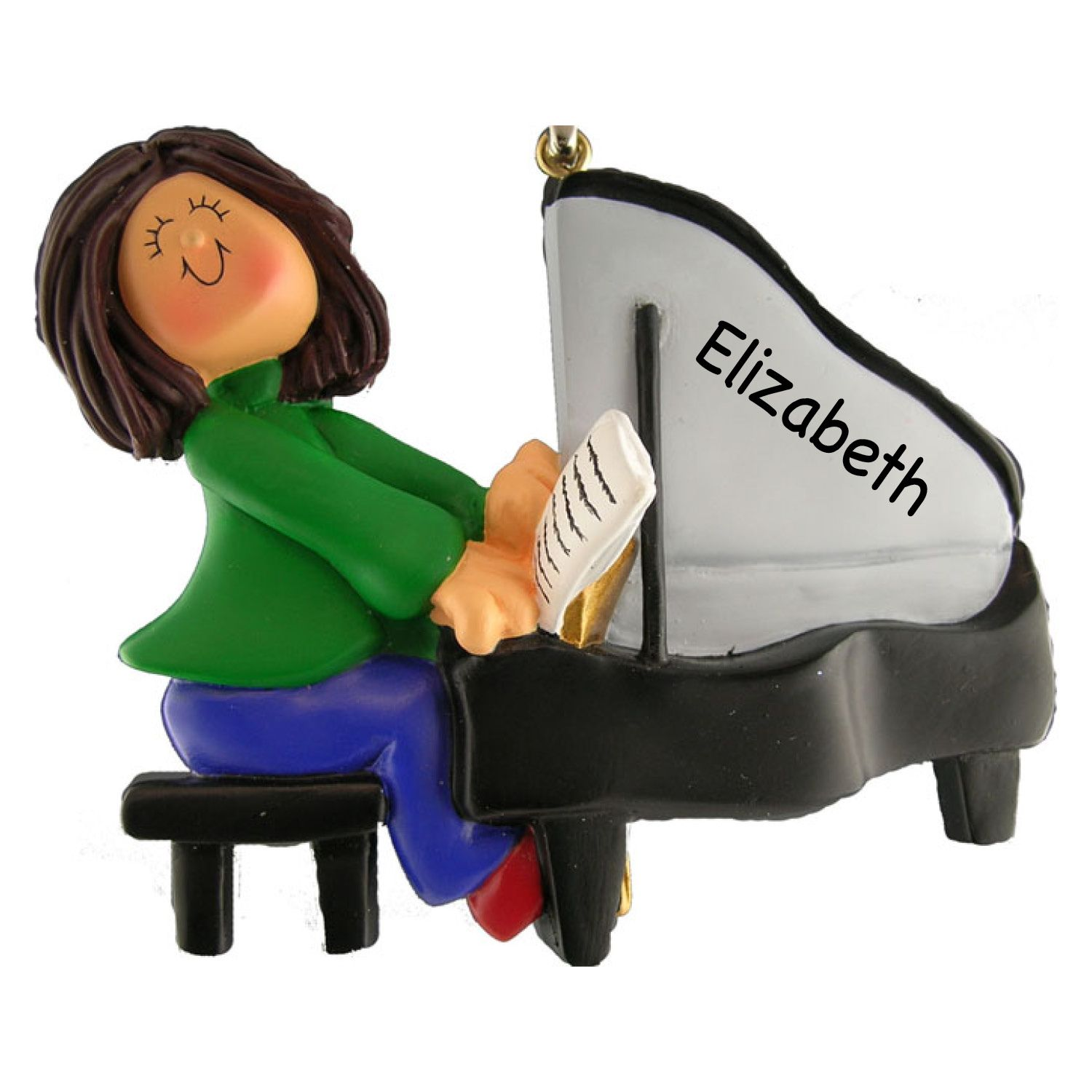 The perfect personalized ornament for the piano player ...