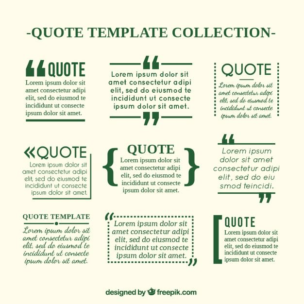 Quote templates in newspaper style Free Vector Shapes, quote - free quotation templates