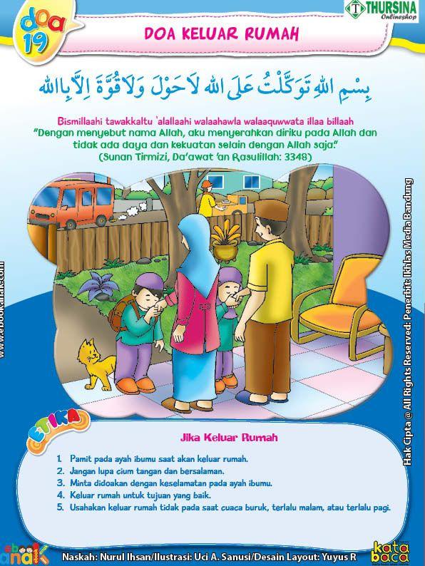 Adab Dan Doa Anak Muslim Ketika Keluar Rumah Doa Buku Pendidikan