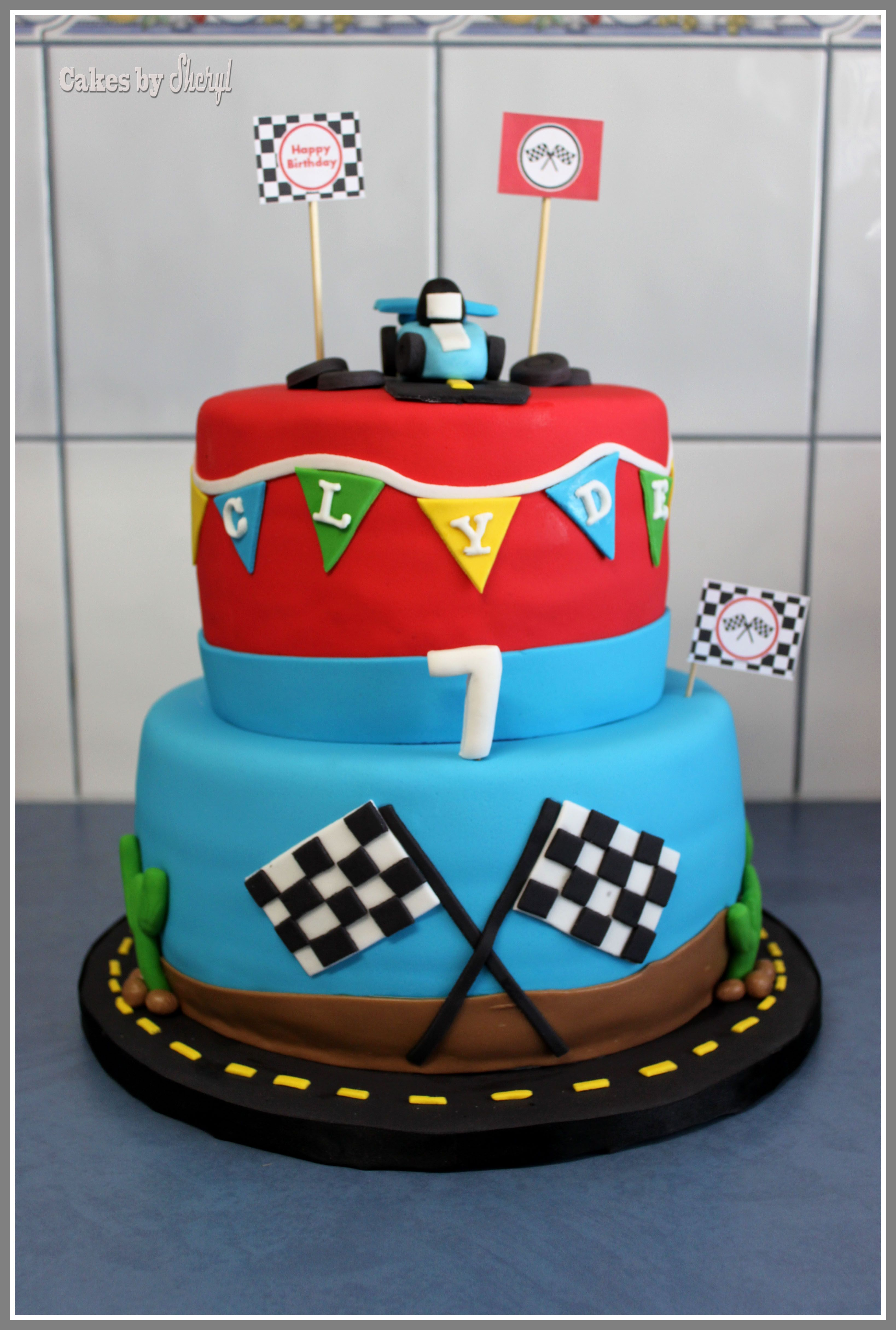 Race Car Cake Cakes By Sheryl Pinterest Car Cakes Cake And