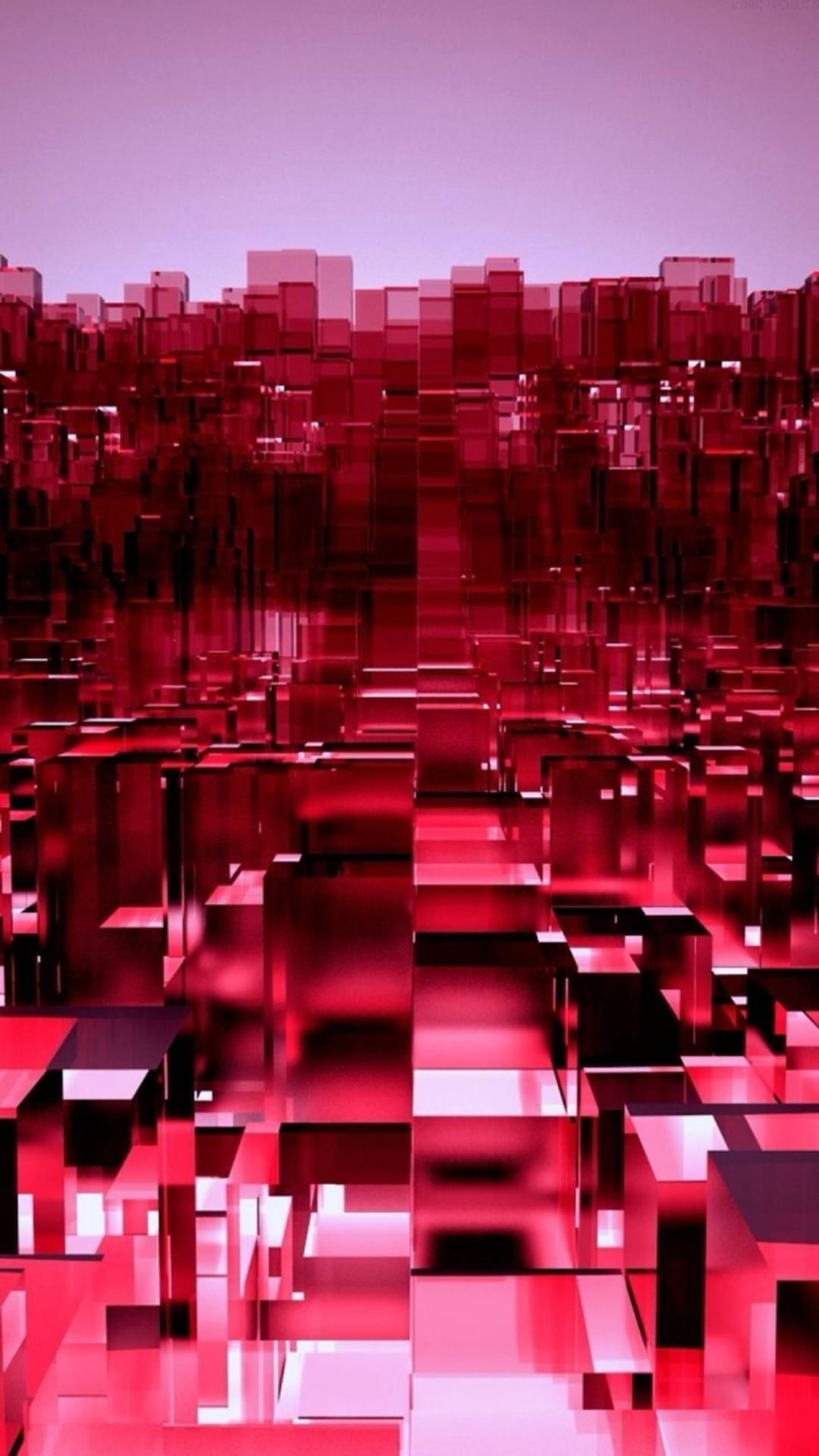 Abstract 3D Overlap Cubes Red Pattern IPhone 6 Plus Wallpaper