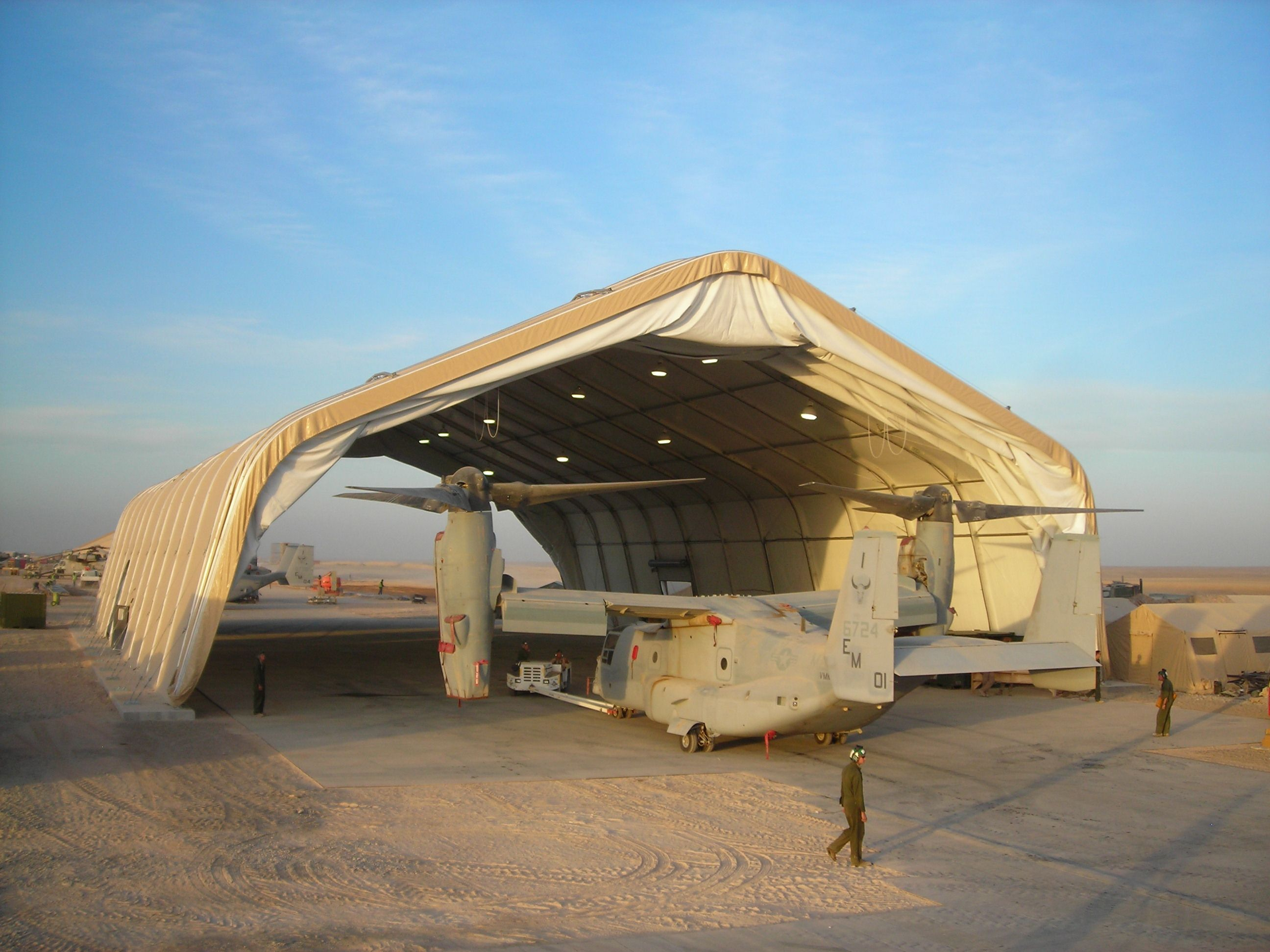 Large Area Maintenance Shelter : Lams a large area maintenance aircraft these can be
