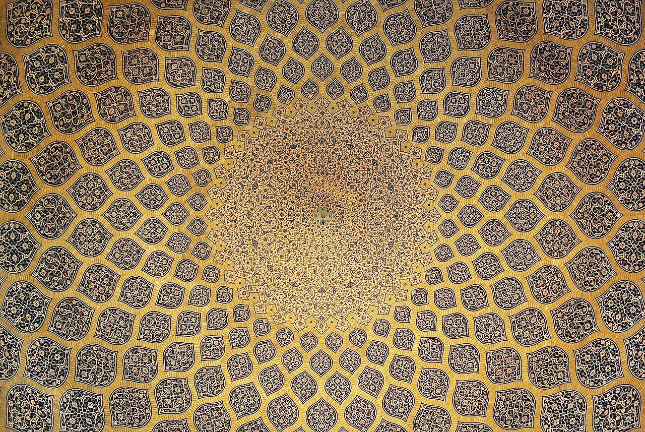 Construction of the mosque started in 1603 and was finished in 1619. It was built by the chief architect Shaykh Bahai, during the reigh of Shah Abbas I of the Safavid dynasty. Many of the tiles of the architecture of this period served as inspiration for the carpet designers of Iszfahán of the early 20th century.