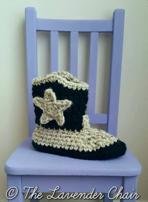 Chunky Cowboy Slippers Crochet Pattern Crochet Love Pinterest