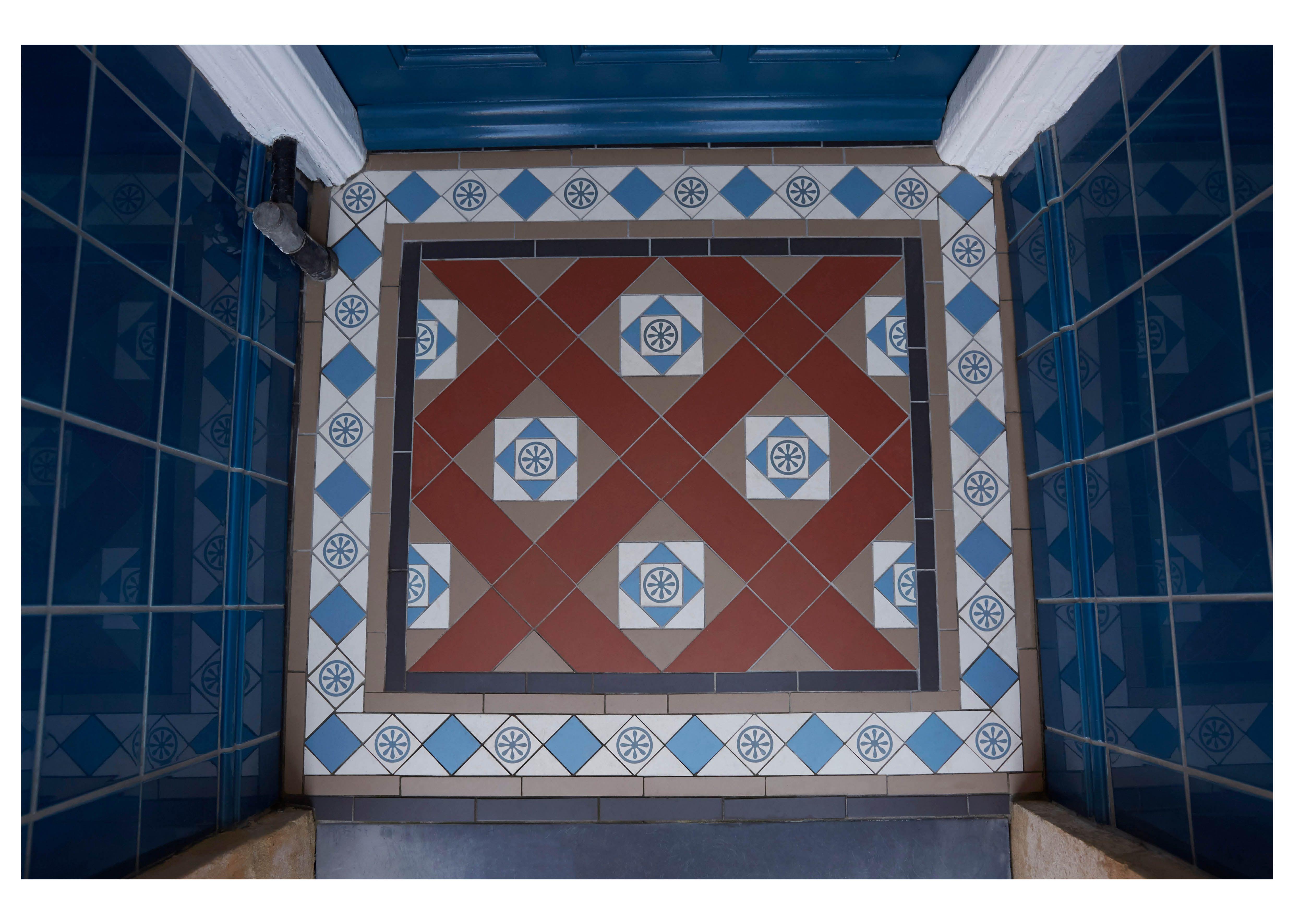 Victorian floor tiles small porch tile ideas small for Edwardian tiles for porch