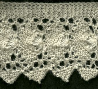 Victorian Fan Edging - Knittingfool Stitch Detail  .... this is so pretty!