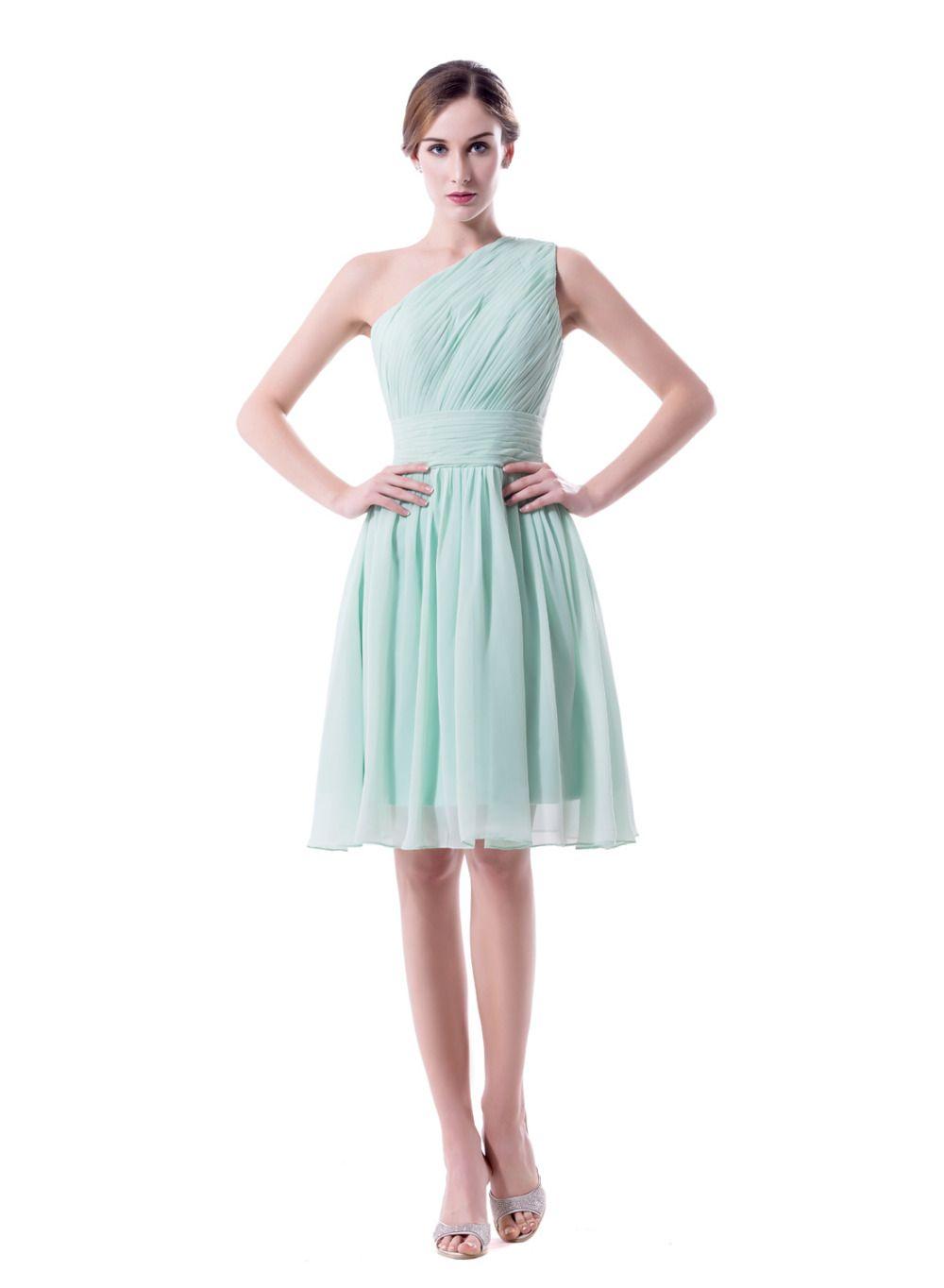 Click to Buy << 2017 New Hot Sales Short Chiffon Bridesmaid Dresses ...