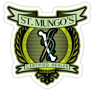 St Mungo Logo Sticker By Adamgamm Harry Potter Monopoly Harry Potter Drawings Snape Harry Potter