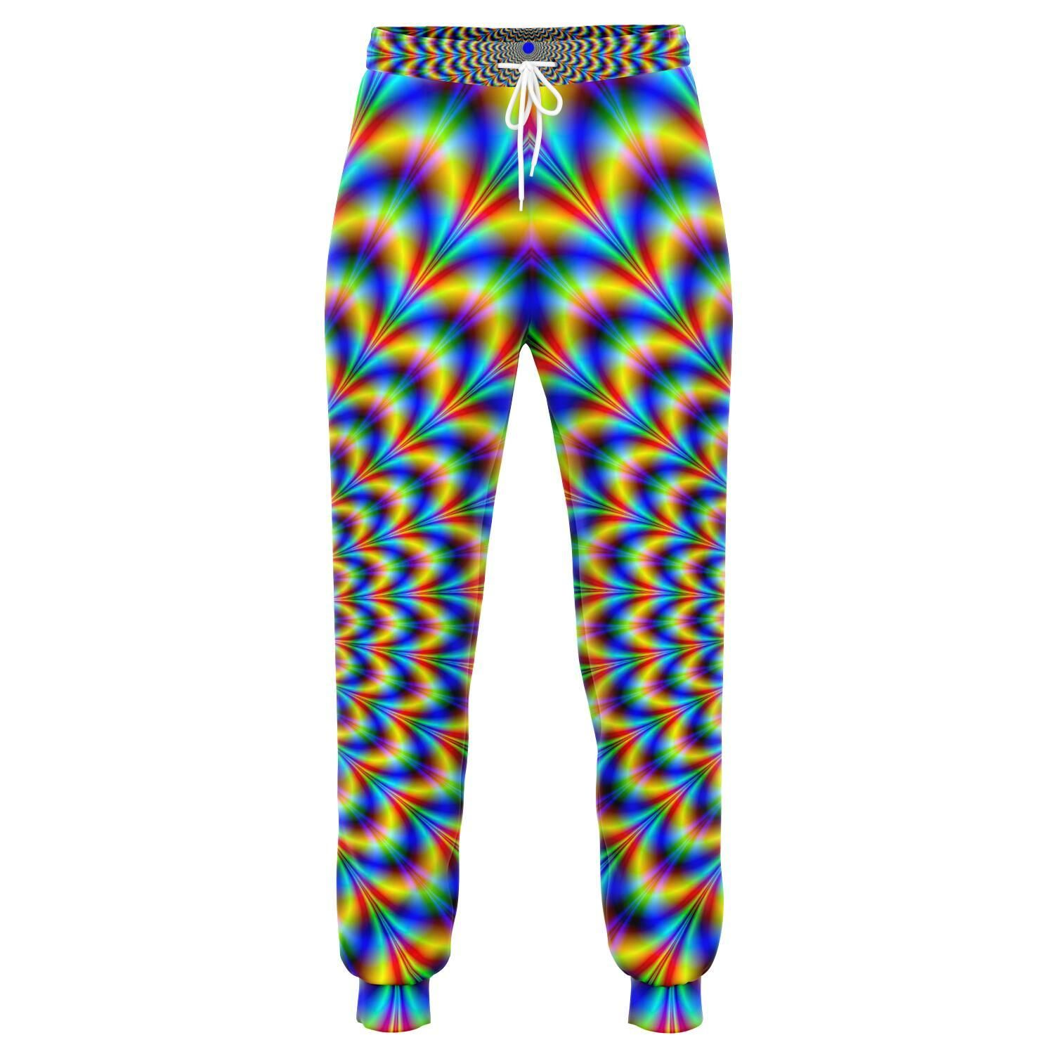 Psychedelic Wave Optical Illusion Jogger Pants