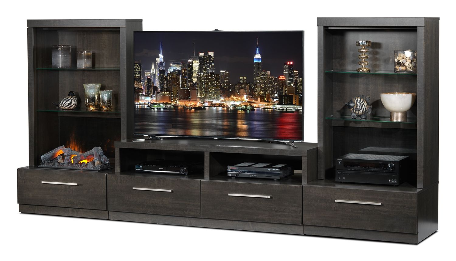 Leons Furniture Kitchener Lakeshore Entertainment Wall Units 7 Pc Fireplace Entertainment