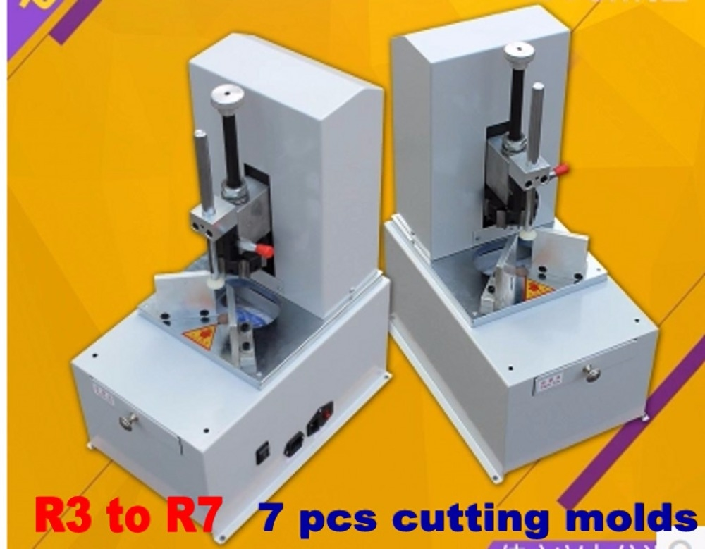 318.50$  Watch here - http://aliaog.worldwells.pw/go.php?t=32767409208 - Electric corner rounder machine for stack paper thickness 80mm with 7 different blades from R3 to R9 318.50$