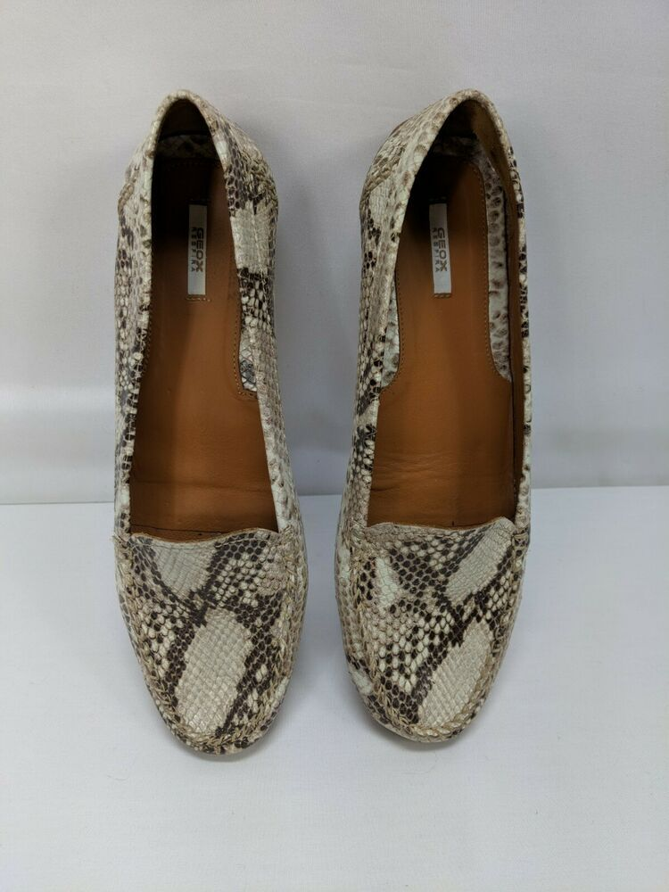 special for shoe buy superior quality Ladies Geox Respira Animal Skin Snakeskin Loafers-41 ...