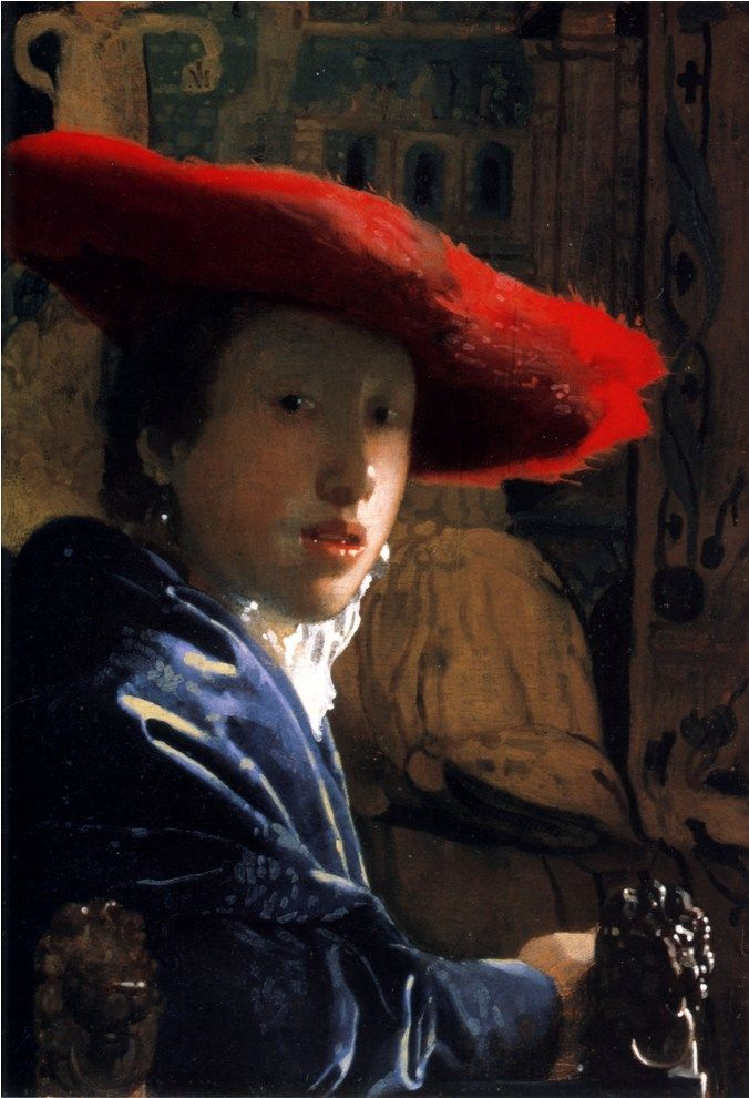 Johannes Vermeer: Girl with a red hat, 1665, Natonal Gallery of Art, Washington.