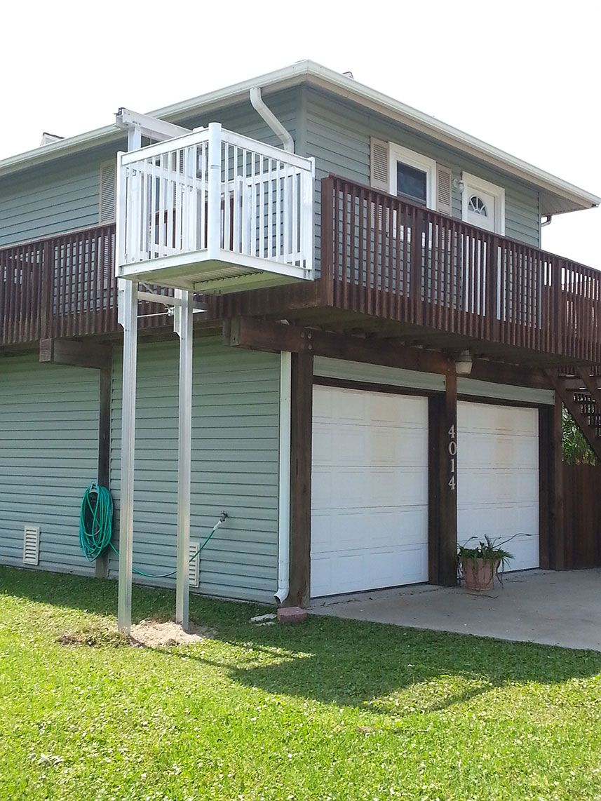 Cargo Lift On A 2 Story Home Elevator Design River House Outdoor Living
