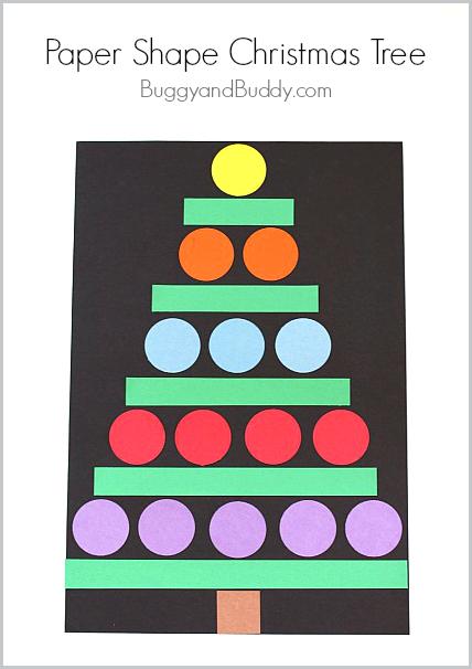 Christmas Crafts For Kids Paper Shape Christmas Tree Buggy And Buddy Preschool Christmas Crafts Christmas Crafts For Kids Christmas Kindergarten