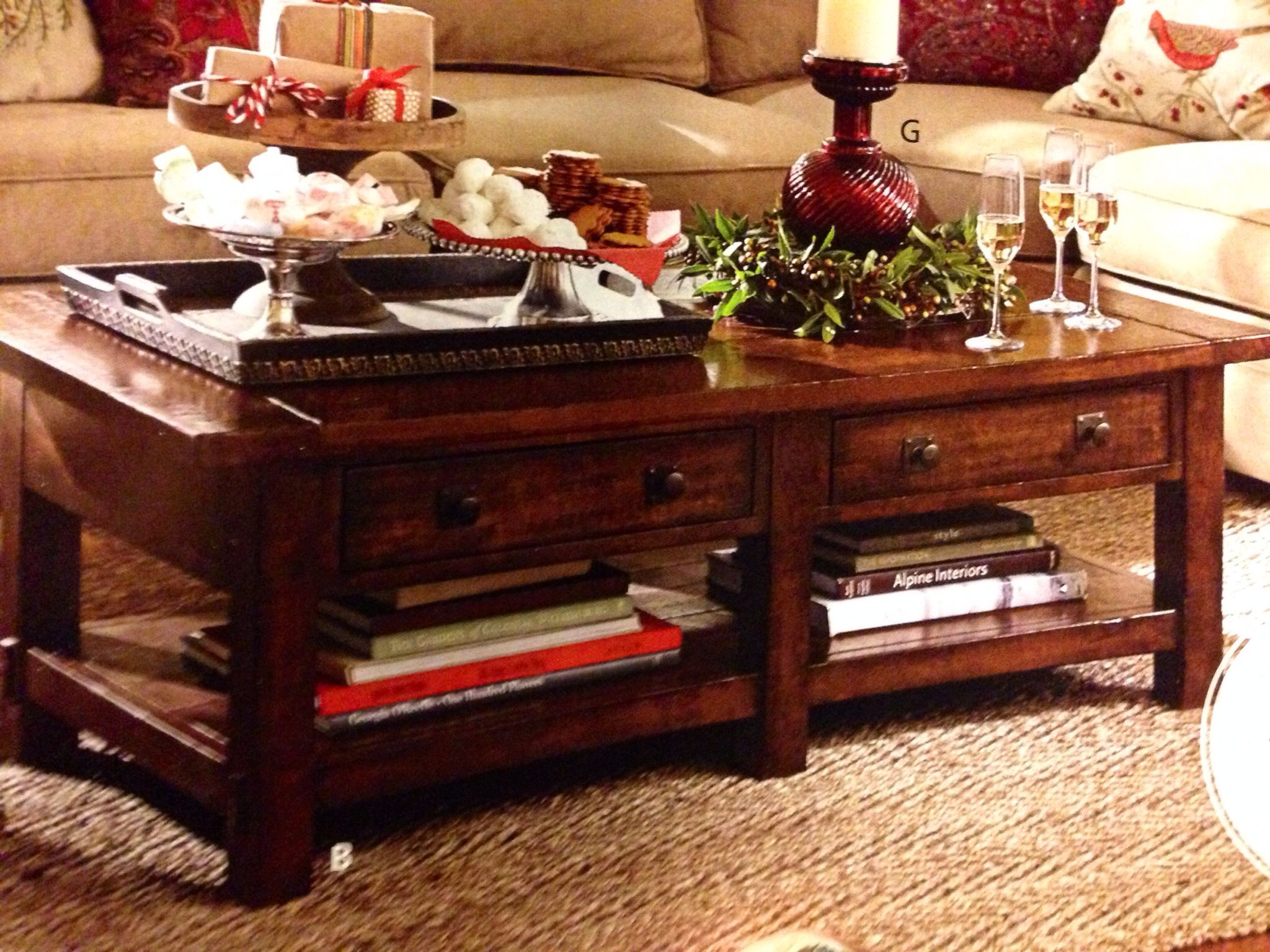 Pottery Barn Benchwright Collection Healthy Work Snacks Coffee Table Pottery Barn