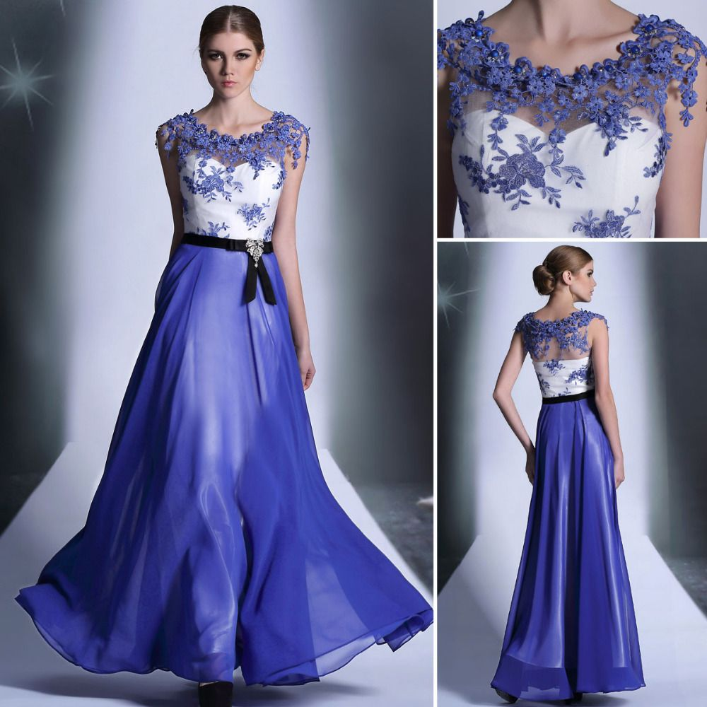 royal blue wedding dresses - Google Search   Vestidos   Pinterest ...