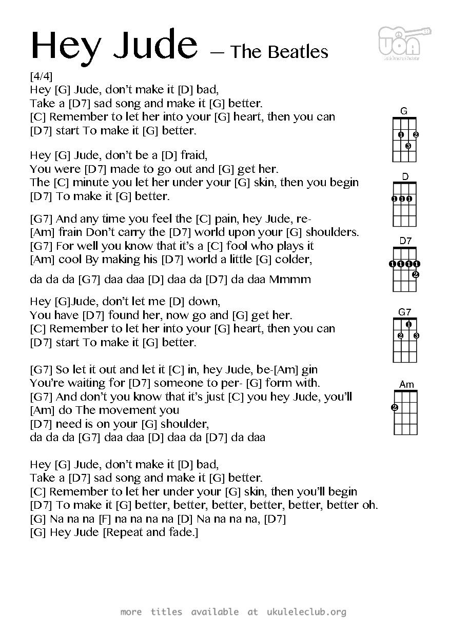 Pdf thumbnail should appear here pinteres ukulele chords for hey jude hexwebz Images