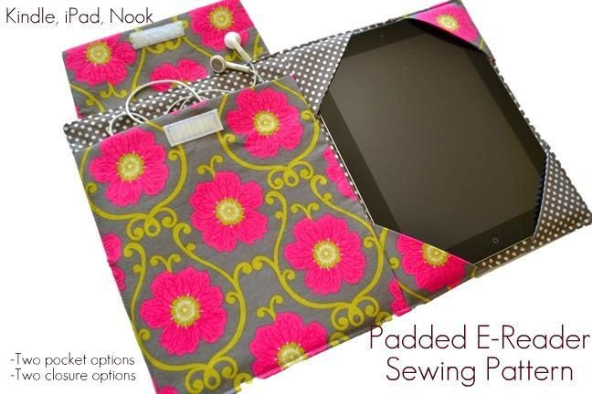 iPad Cover Sewing Pattern, Kindle & more   Christmas sewing, iPad ...