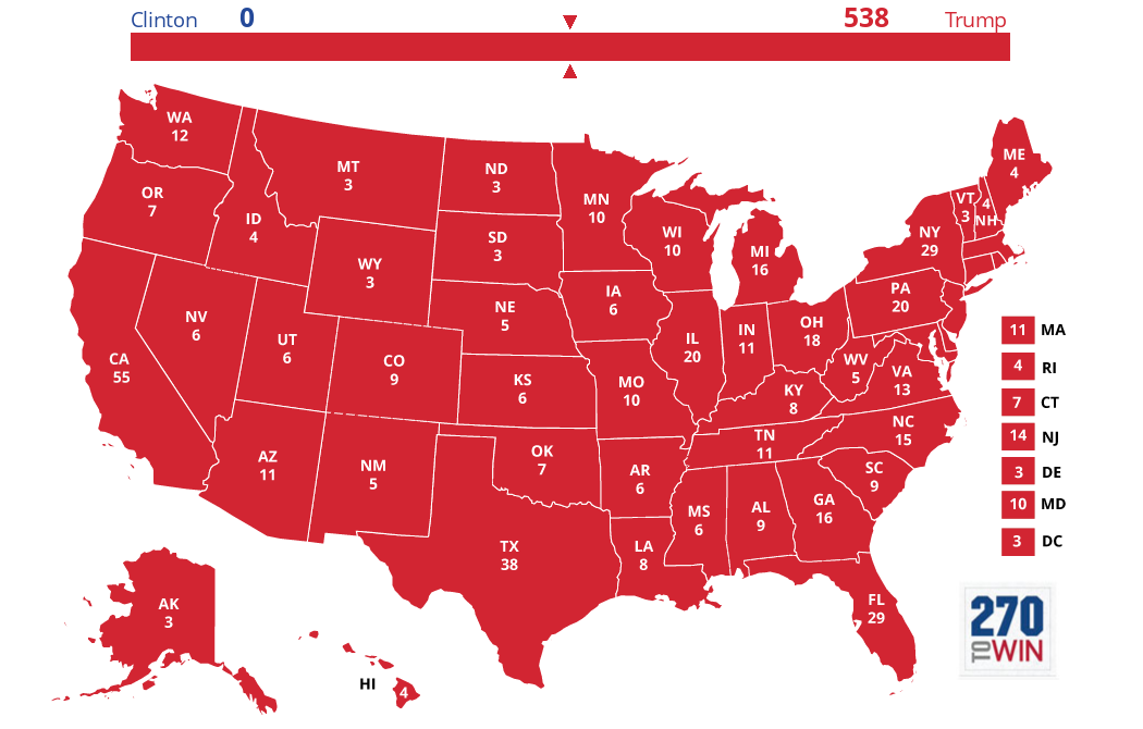 2016 Presidential Election Interactive Map 2016 presidential