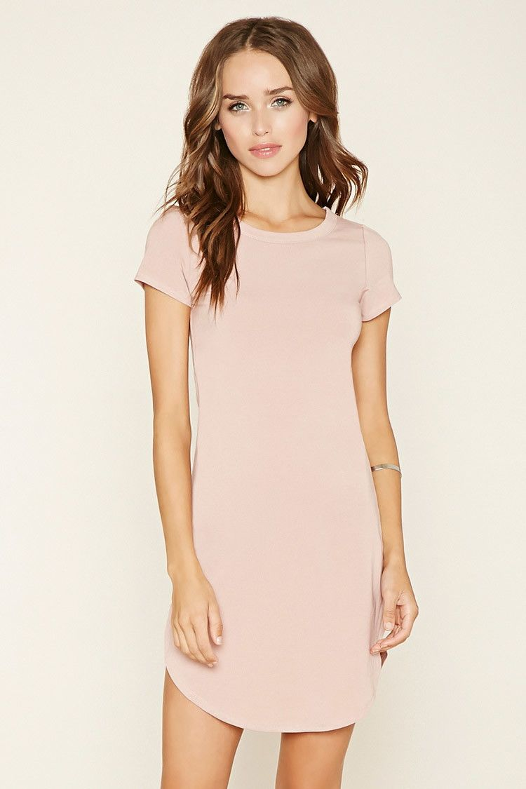 81fa8045c58 Curved-Hem T-Shirt Dress