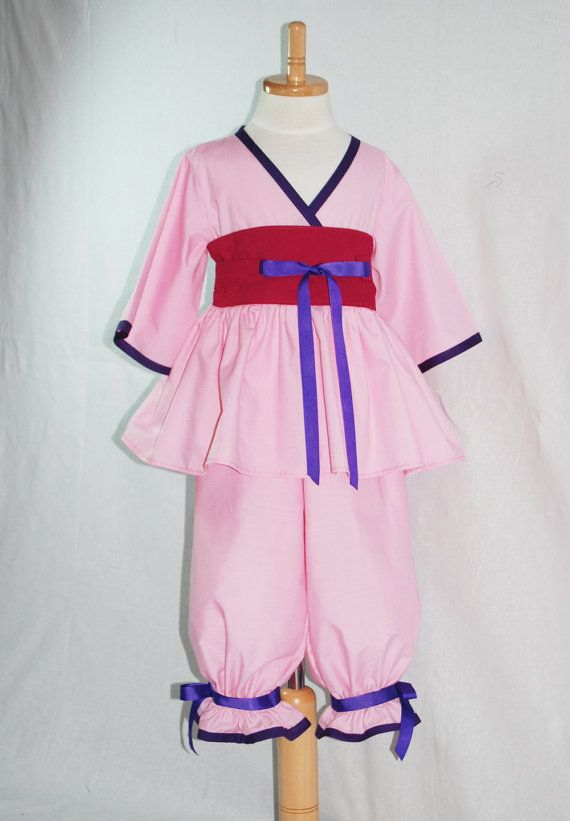 Princess Mulan Outfit for Girls and Toddlers by pinkmouse on Etsy ...