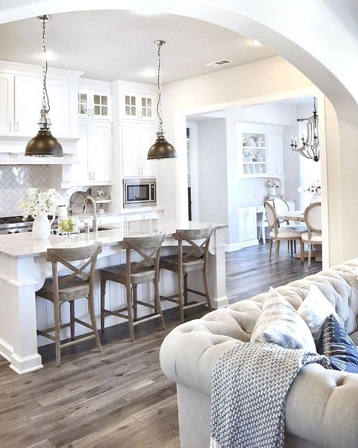 Farmhouse Kitchen Cabinets - CLICK THE PIN for Lots of Kitchen