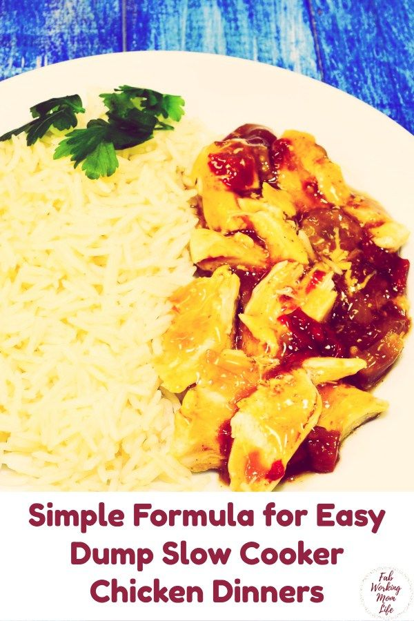 My Simple Formula for Easy Dump Slow Cooker Dinners Simple Formula for Easy Dump Slow Cooker Dinners | Fab Working Mom Life | easy chicken dinner | slow cooker chicken dinner | chicken dump dinner | salsa chicken, teriyaki chicken, pineapple chicken recipes dinner ideas family / recipes for family / healthy dinner recipes for family / weeknight dinner / budget meals / budget dinners