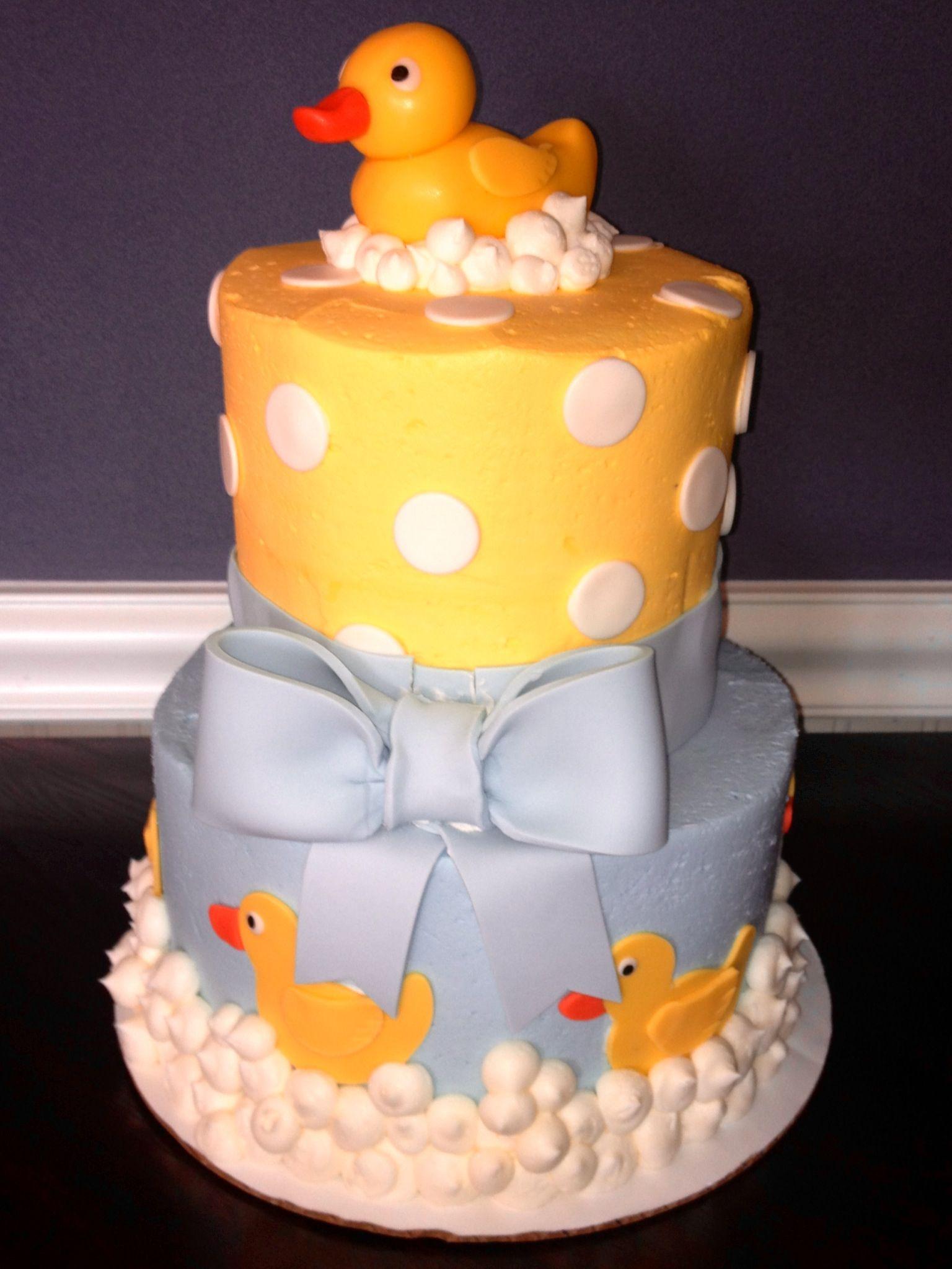 Rubber ducky baby shower cake Baby Shower Pinterest