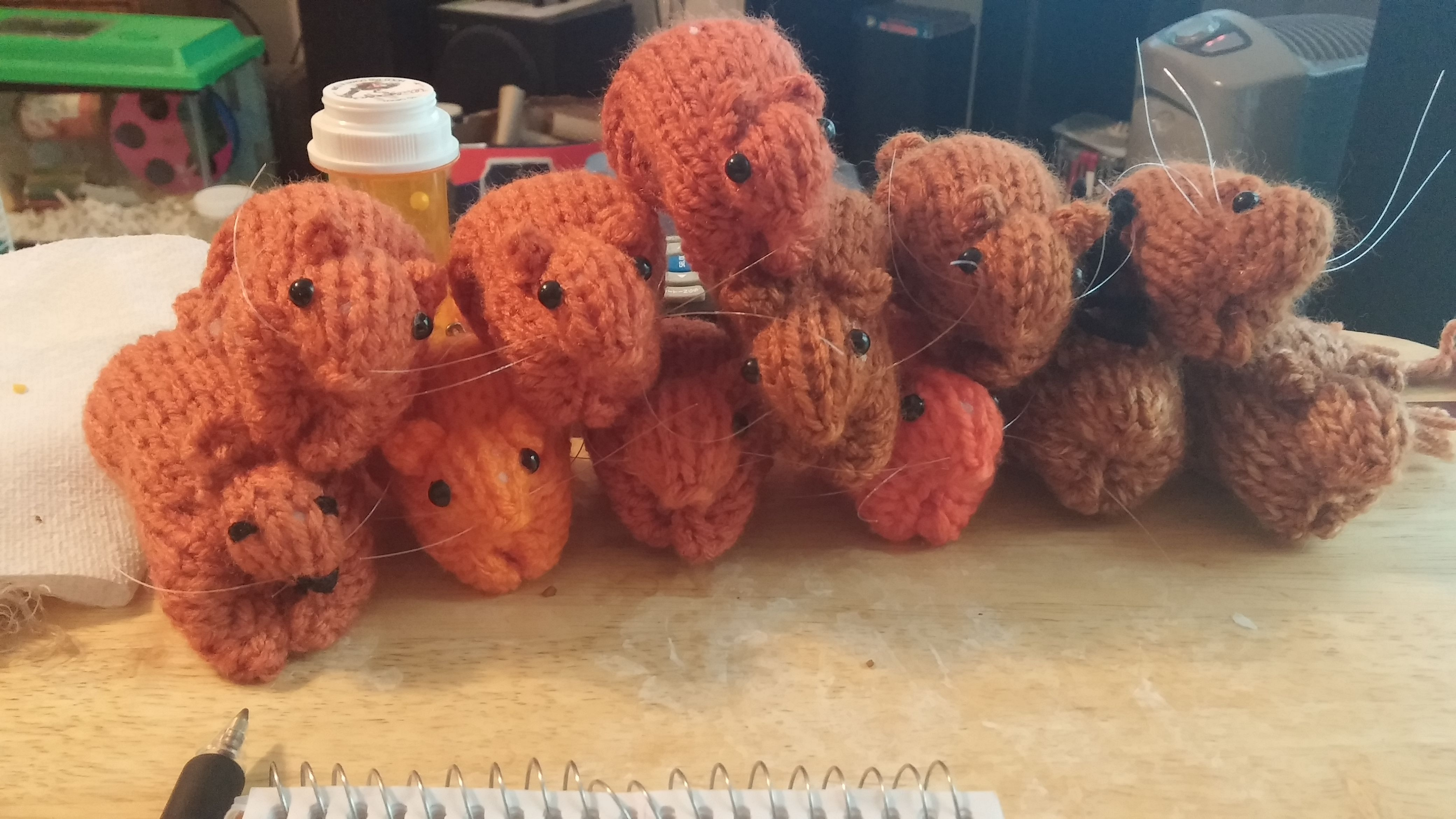 My passion. Knitted gerbils.