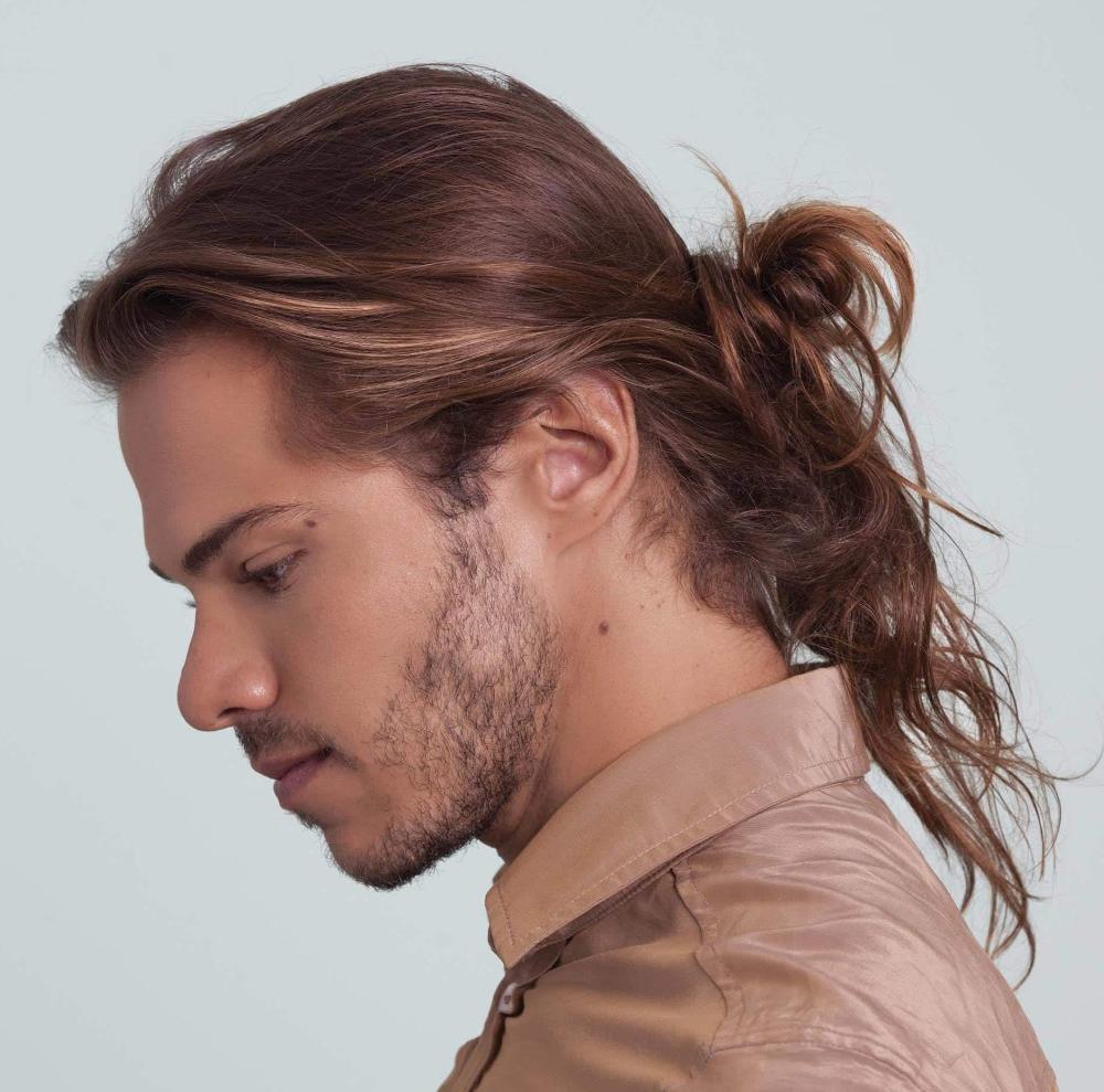 メンズの髪型 ロン毛のツーブロック特集 マンバンの結び方を 2020 メンズヘアスタイル ロング メンズロングヘアスタイル 髪型