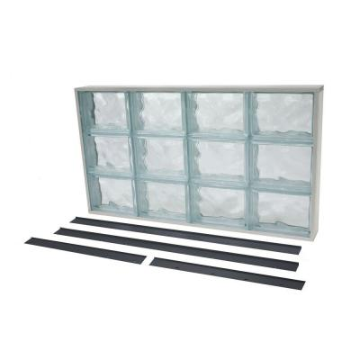 Tafco Windows 31 625 In X 17 625 In Nailup2 Wave Pattern Solid Glass Block Window Nu2 3218ws Glass Block Windows Glass Blocks Wave Pattern