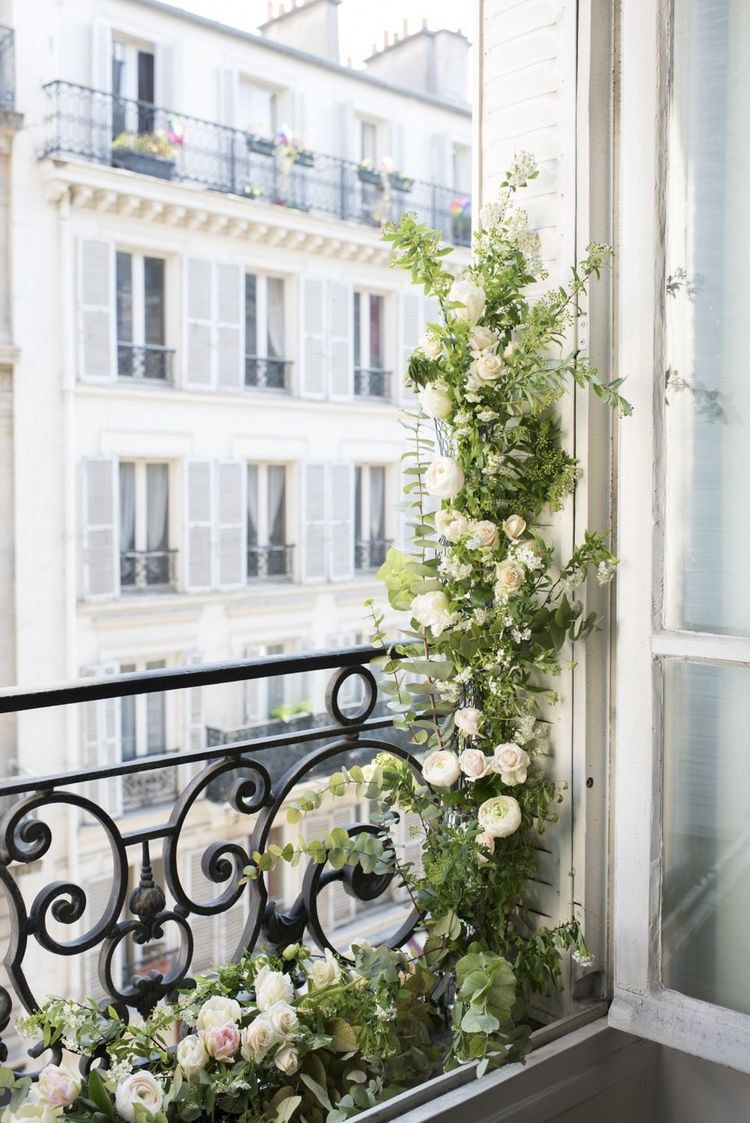 Breath-taking Parisian Balconies  Balcony flowers, Parisian