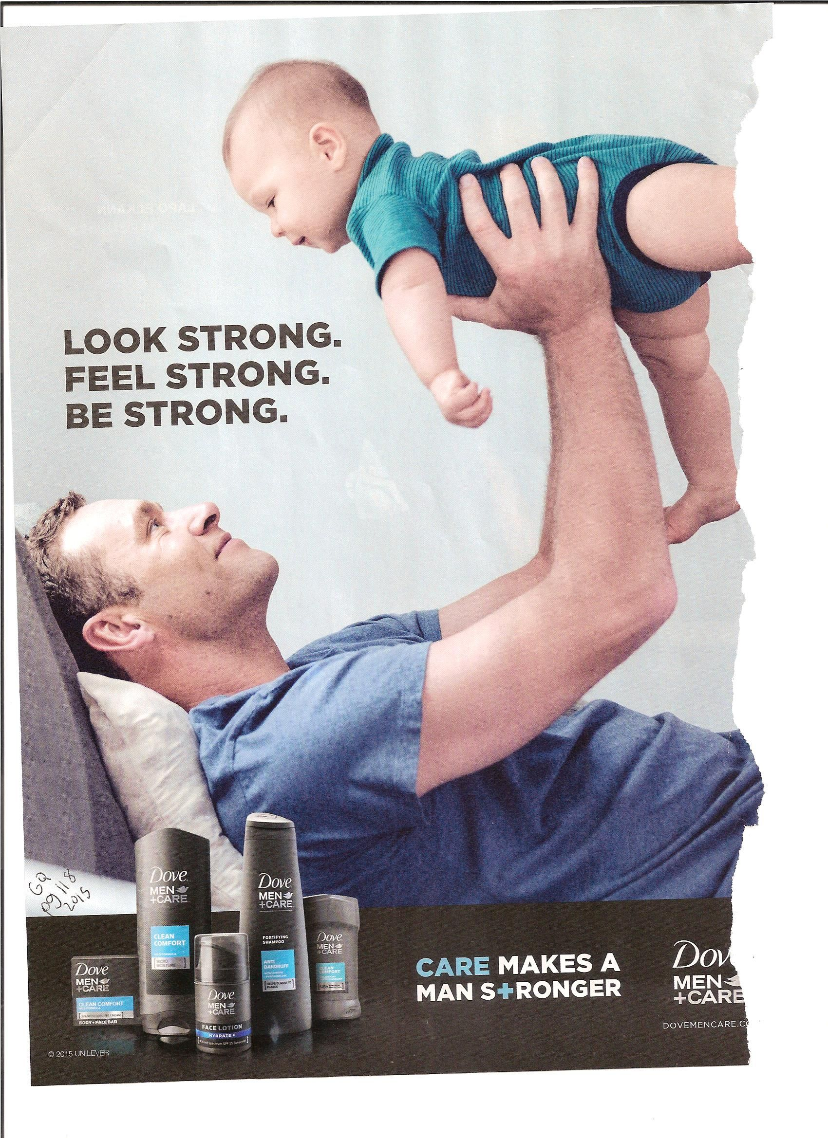 Ad 11. This is an ad for men's Dove products. From bar