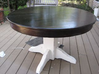 Fabulously Flawed Refinished Dining Table Dining Table