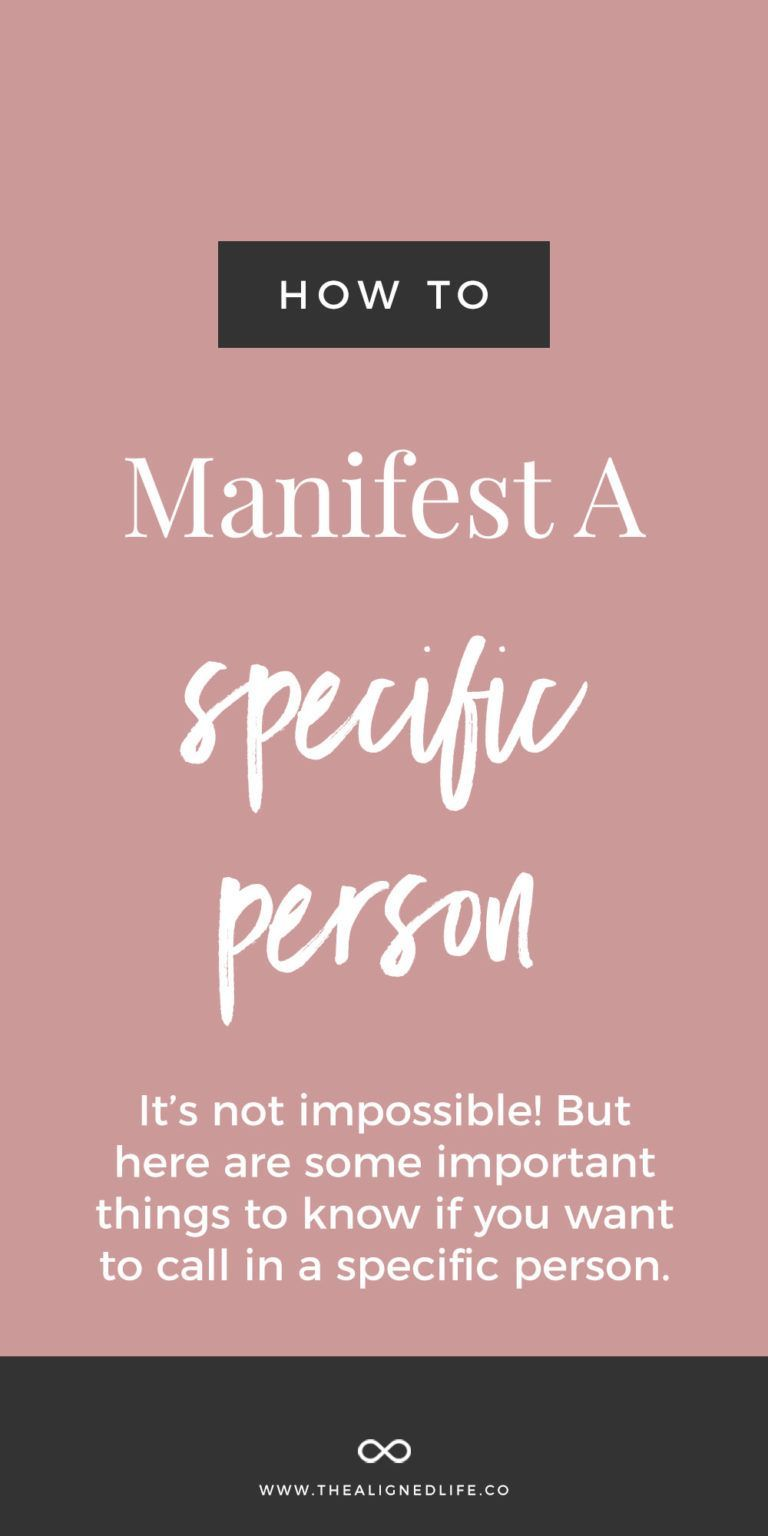 Manifest Specific Person Instantly !!! in 2020 Law of