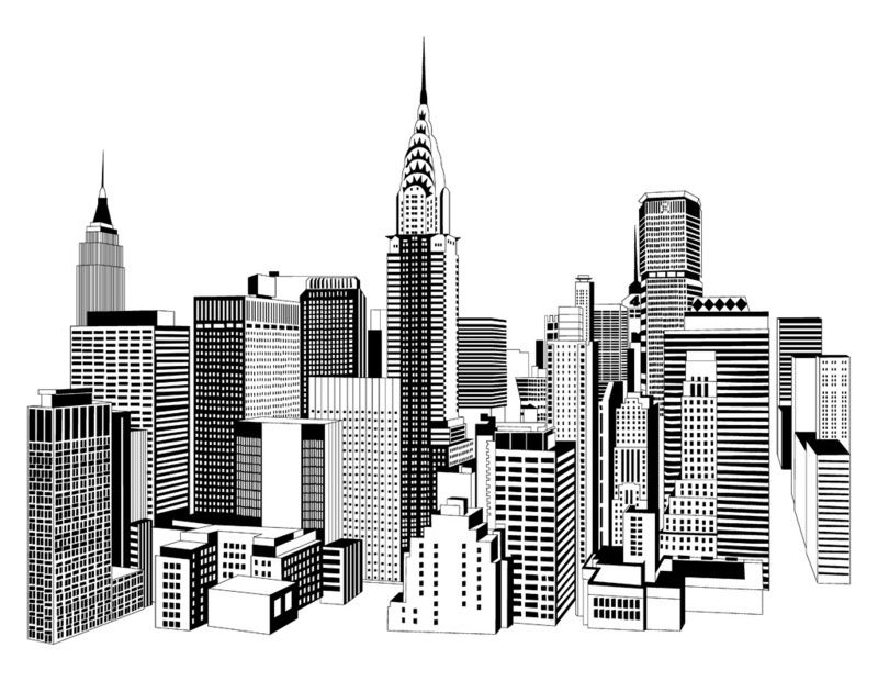Line Drawing New York Skyline : City skyline drawing tumblr tags architecture