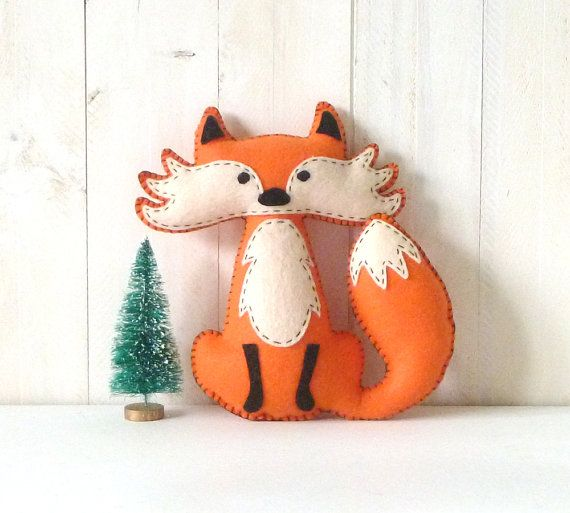 Fox Sewing Pattern Felt Fox Hand Sewing Instructions Easy Etsy In 2020 Fox Sewing Pattern Sewing Stuffed Animals Animal Sewing Patterns