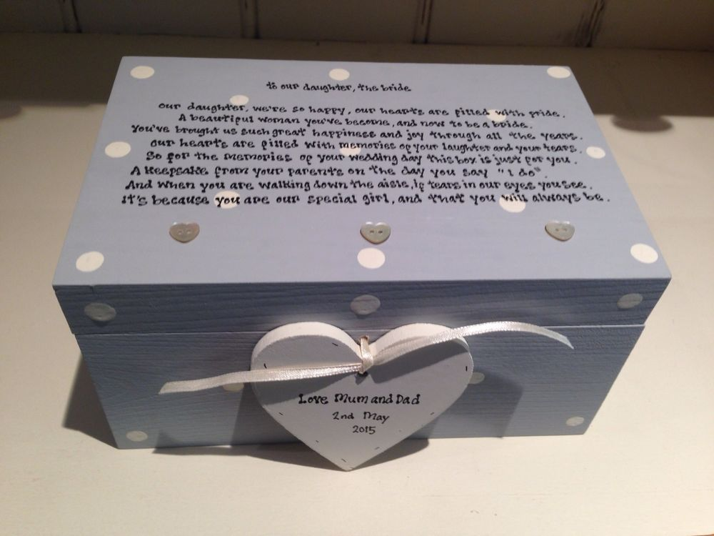 Details About Shabby Personalised Chic Gift For Daughter On Wedding